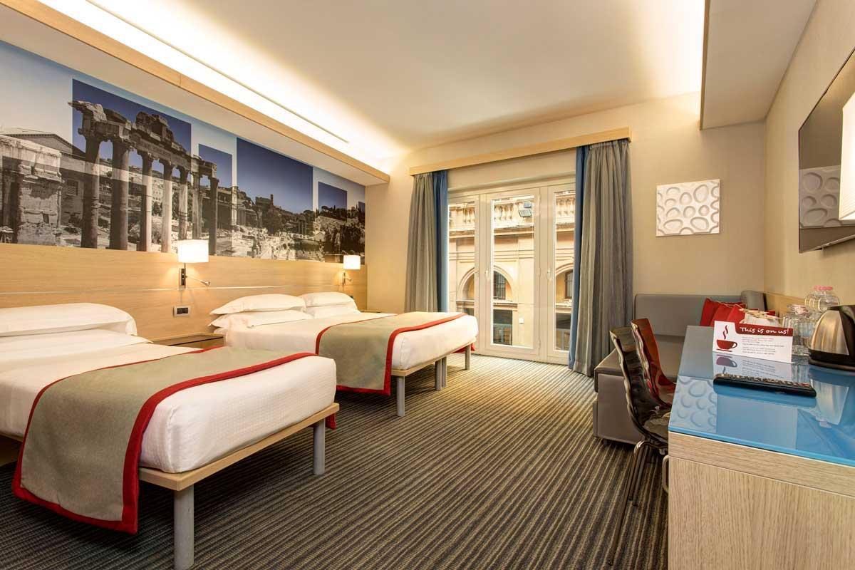 Chambre Quadruple Hôtel Rome Centre Iq Hotel Roma